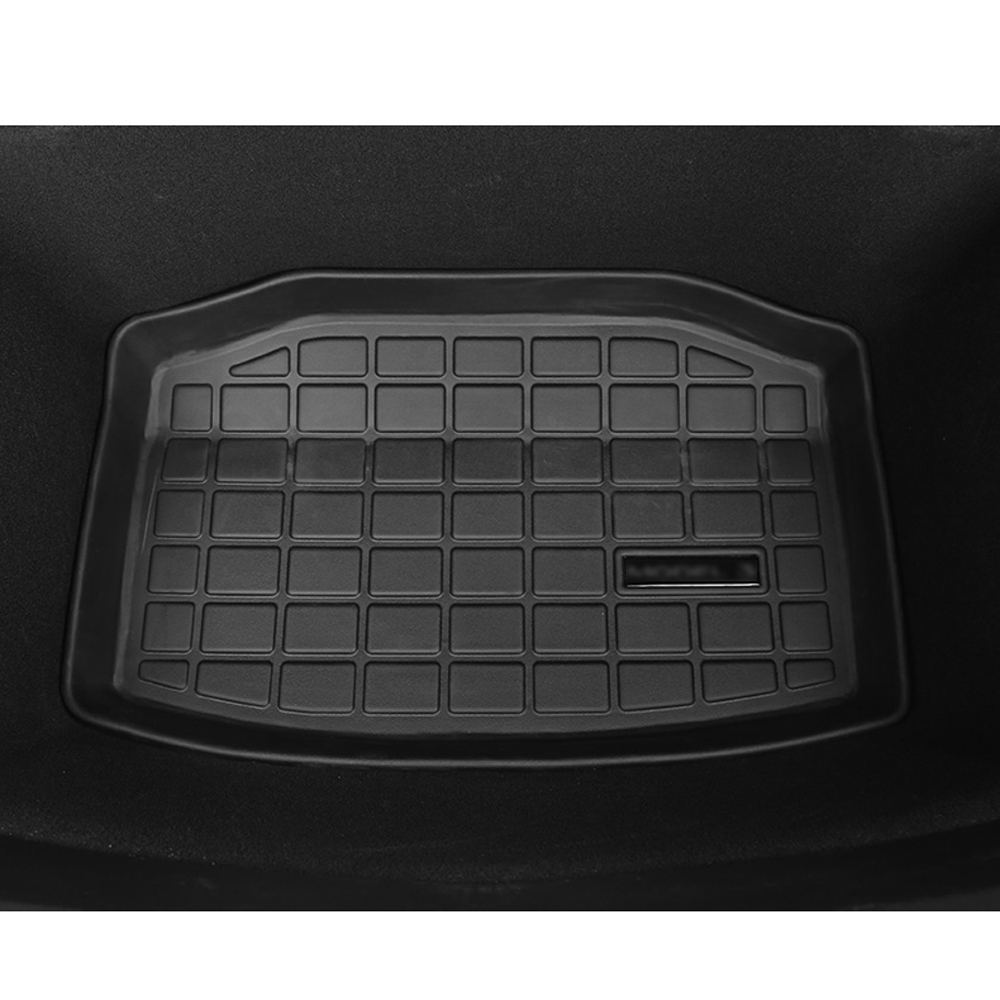 Car Trunk Mats For Trunk Mat For Tesla Model 3 2017 2018 2019 Pad Mats Car Accessories Floor Carpet Rear Cargo Boot Environ
