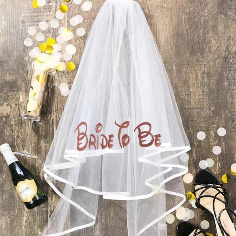 Braut zu sein Brautjungfer Robe schleier schärpe Hochzeit engagement bachelorette hen party braut dusche spa dekoration geschenk