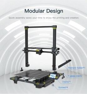 Image 2 - ANYCUBIC כירון 3d מדפסת ענק לבנות נפח 400x400x450mm אוטומטית פילוס כפולה Z ציר 3d מדפסת ערכת impresora 3d דרוקר