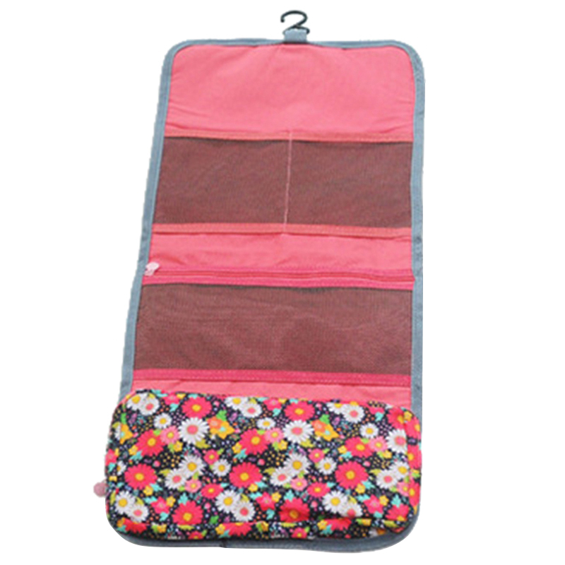 New Style Fashion Casual Practical Travel Hanging Cosmetic Bag Toiletry Organizer Ladies Women Make Up Pouch Pink