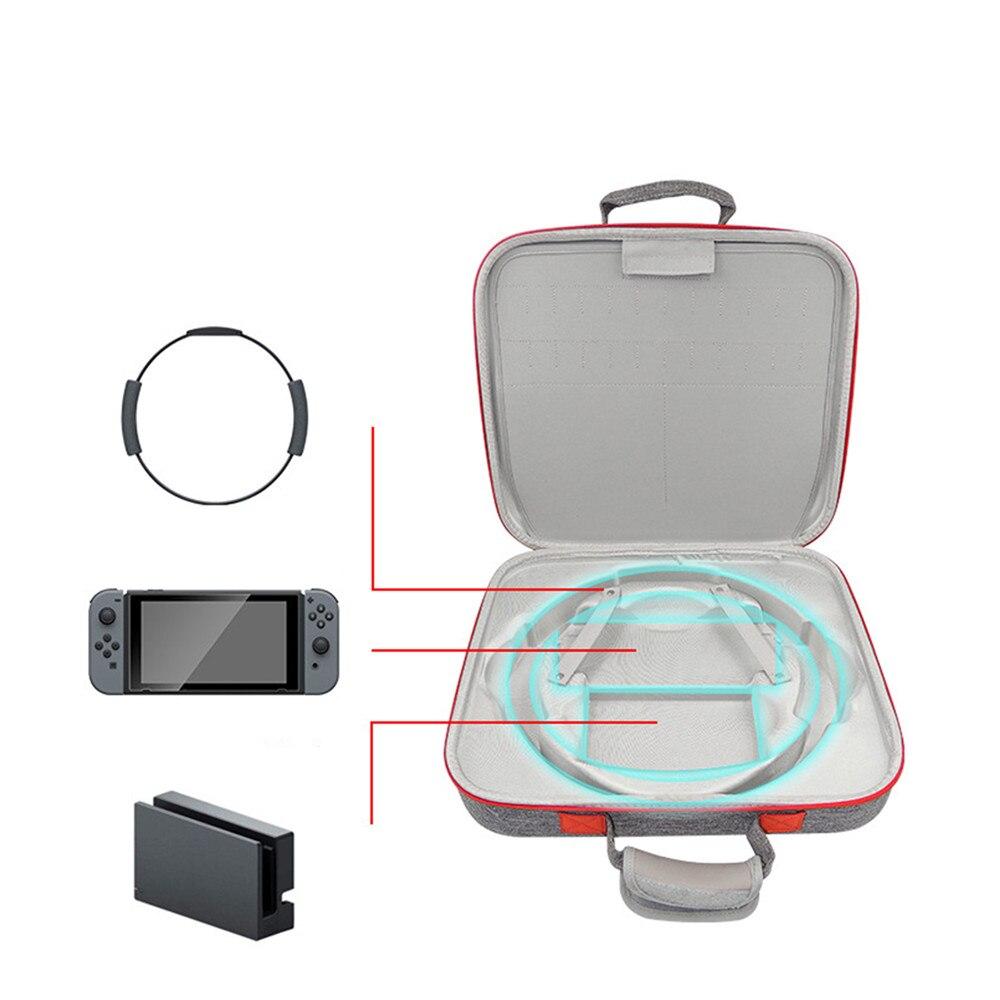 Sac de rangement dur portatif d'eva pour le sac de étui de protection de transport de voyage de câble de chargeur de contrôleur de jeu d'anneau de forme physique de commutateur de nintention - 5