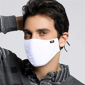 1pcs White Dustproof Mask Washable And Reusable Cotton Mouth Face Masks Mouth Cover For Man And Woman Маска Для Взрослых