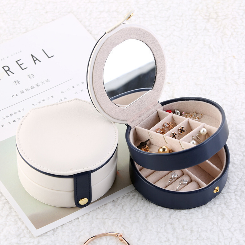Women Makeup Organizers Holder Cosmetic Brushes Container Jewelry Rings Display Box Home Bathroom Storage Accessories Supplies