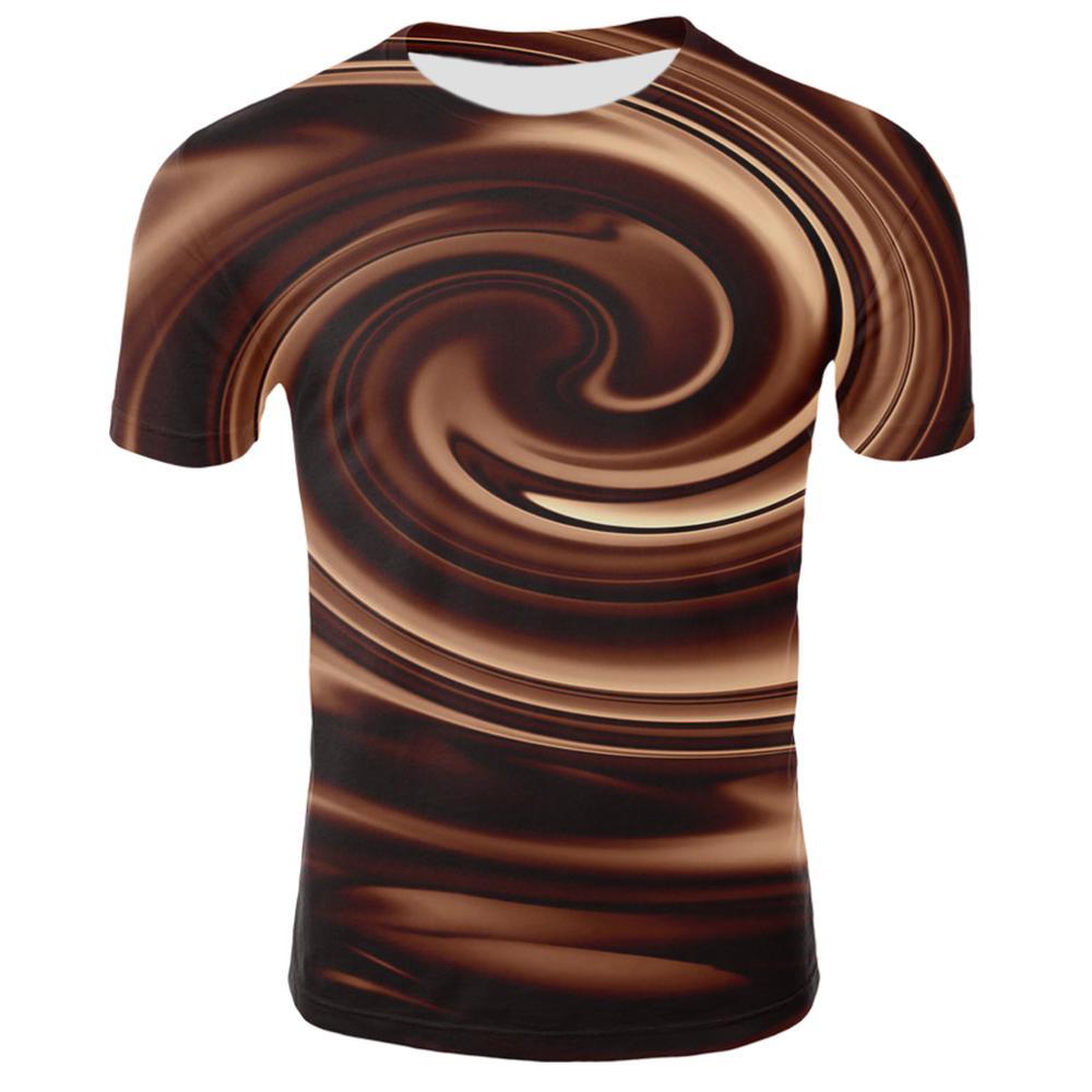 Новинка 2019, 3D футболка для мужчин и женщин, хаки, Вихревой абстрактный принт, летняя футболка с коротким рукавом, хип-хоп, уличный стиль