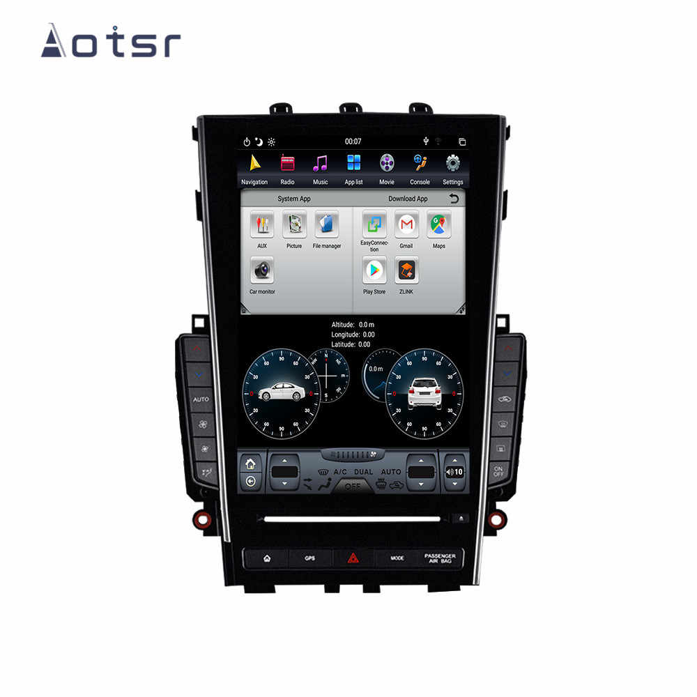 "Aotsr Tesla 12.1 ""Verticale Screen Android 9 Auto Multimedia Speler Gps Navi Voor Infiniti Q50 Q50L 2015 - 2018 wifi Carplay Stereo"