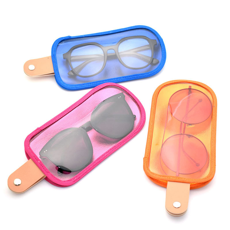Mobile Phone Glasses Bag Retro Portable Storage Sunglasses Bag Pure Color Retro Portable Storage Sunglasses Bag