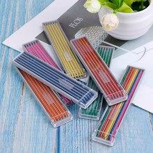 1 caixa de 2mm colorido lápis mecânico recargas chumbo arte esboço desenho automático lápis chumbo lápis núcleo