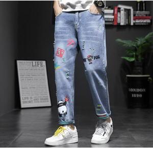Image 5 - 2019 printemps et été nouvelle mode tendance Version coréenne du Couple décontracté trou impression neuf Points sport jean Hip Hop meilleur