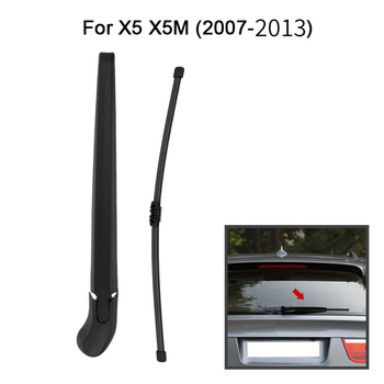 Car Rear Window Windshield Wiper Arm & Blade Complete Replacement Set For-BMW E70 X5 X5M 2007-2013 image