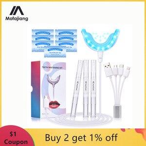 Image 1 - Teeth Whitening Kit Blue Light Dental Whitening Gel 16 LEDs  Whiter Teeth Tooth Whitening Pens Dropship Teeth Bleaching System