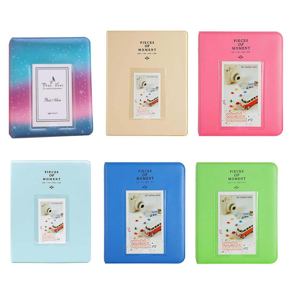 64 карманы для ЖК-дисплея с подсветкой Fujifilm Instax Mini Плёнки Fuji Instant Mini 8 7S 70 25 50S 90 визитная карточка моменты фотоальбом