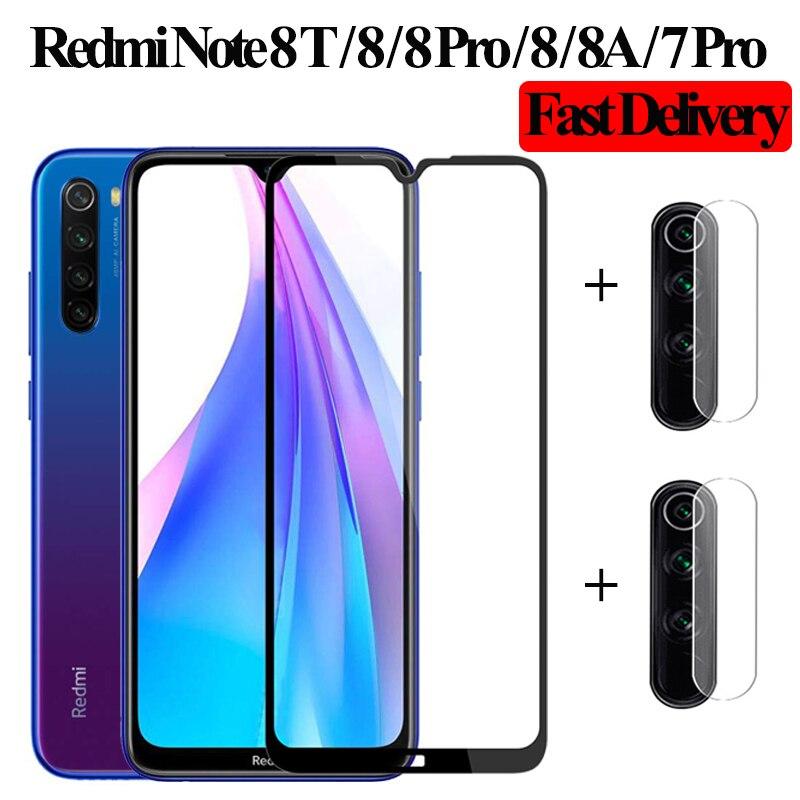 2-in-1 Camera Glass Redmi Note 7 Tempered Glass Screen Protector Xiaomi Redmi Note 7 Glass Film Redmi Note 7 8T Screen Protector