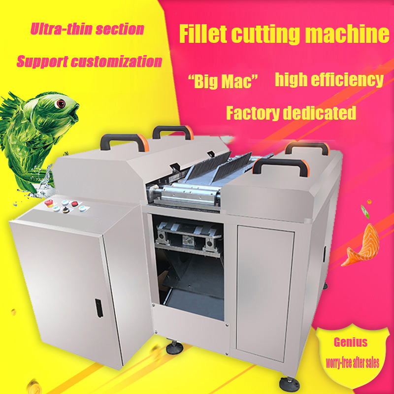 YC-1300 Fully Automatic Fish Cutting Machine Commercial Electric Small Multi-function Slicer Oblique Cut Pickled Fish Slicer