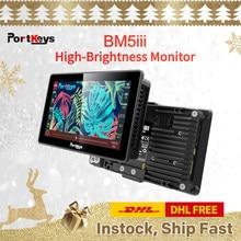Portkey-cámara BM5 III 2200nit 3G SDI/HD, superbrillante, Control de pantalla táctil FHD, Monitor de cámara
