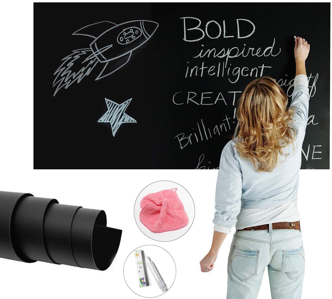 60x100cm Chalkboard Blackboard Stickers Removable Vinyl Draw Erasable Blackboard Learning Multifunction Office Drop Shipping