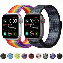 Nylon pulseira For apple watch band 4 44mm 40mm (iwatch 5) applewatch 3 2 1 strap 42mm 38mm Breathable Bracelet belt accessories(China)