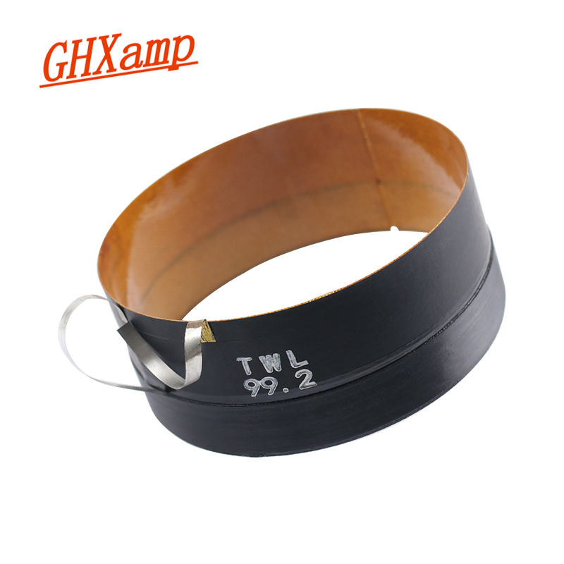 GHXAMP 1PCS 99.2MM Imported Glass Fiber Skeleton Woofer Voice Coil Speaker Pure Aluminum Flat Wire 100 Core 1PCS