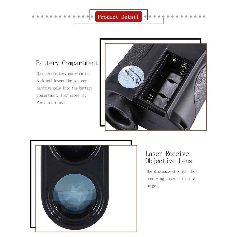 Laser rangefinder 800 1200 1500m digital rangefinder