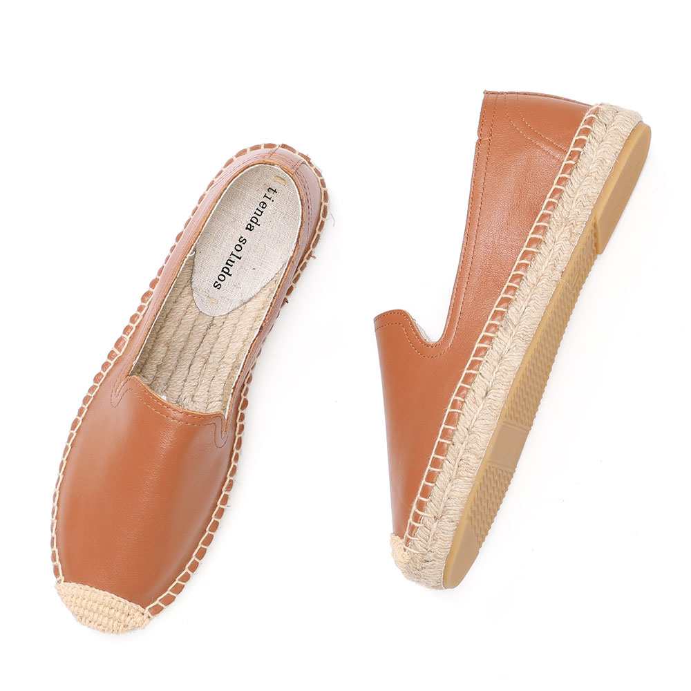 Loafer Genuine Flat Espadrilles For Female 2019 New Real Rubber Sapatos Zapatillas Mujer Slip On Woman Comfortable Round Toe