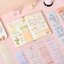 30packs/lot Long Strips Stickers Eight Models Mixed Hand Account DIY Decorative Stickers For Diary Stationery