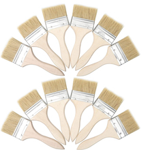 12 Pack of 3 Inch (74mm) Paint Brushes and Chip Paint Brushes for Paint Stains Varnishes Glues and Gesso