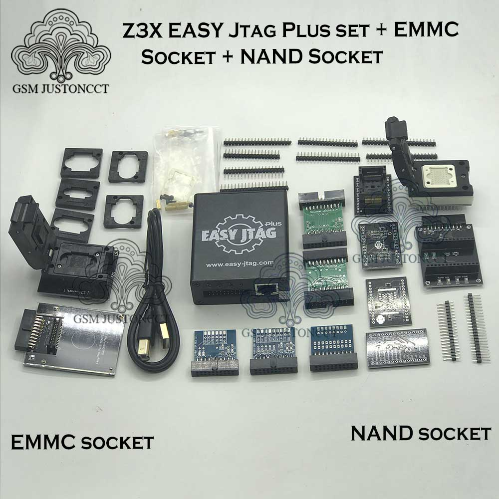 New Version Full Set Easy Jtag Plus Box Easy-Jtag Plus Box + EMMC Socket +NAND Socket
