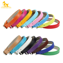 Soft Leather Solid Dog Collar Adjustable Puppy Neck Strap Safe Collars for Small Medium Big Dog Kitten Necklace Cat Accessories
