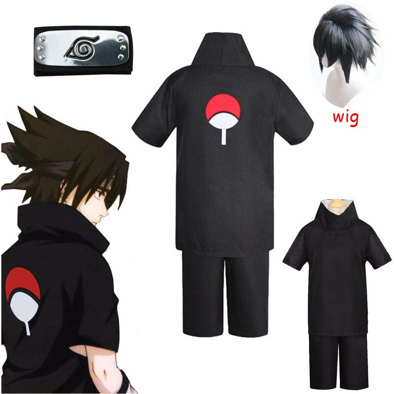 Hot Anime Sasuke Uchiha Uniform Cloth Made Cosplay Costume