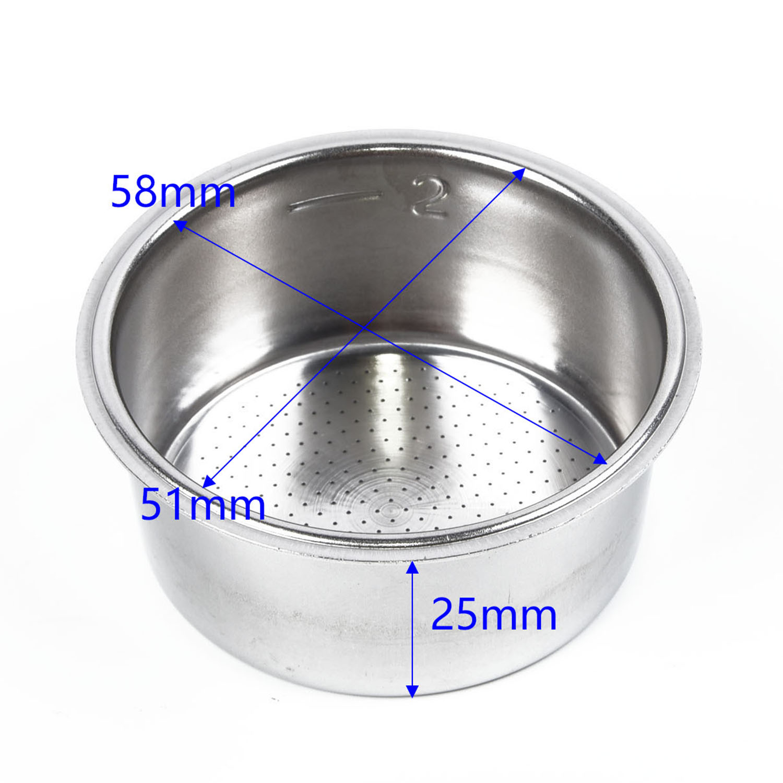 Filter Cup Espresso Filter Basket Cup Coffee Tea Filter Accessories Metal Tool