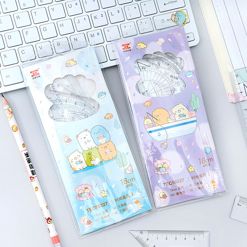 Transparent Umikko Gurashi Acrylic Ruler Cute Measuring Straight Rulers Drawing Tool Promotional Stationery Gift School Supplies