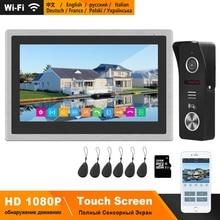 HomeFong Wireless Wifi Smart Video Door Phone Intercom System 10 inch Touch Screen HD 1080P Doorbell Camera Support Swiping Card