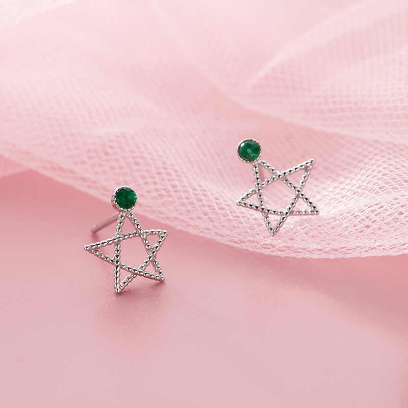 Pendientes de plata de ley 925 con forma de estrella de cristal para mujer, pendientes de plata de ley 925 eh1276