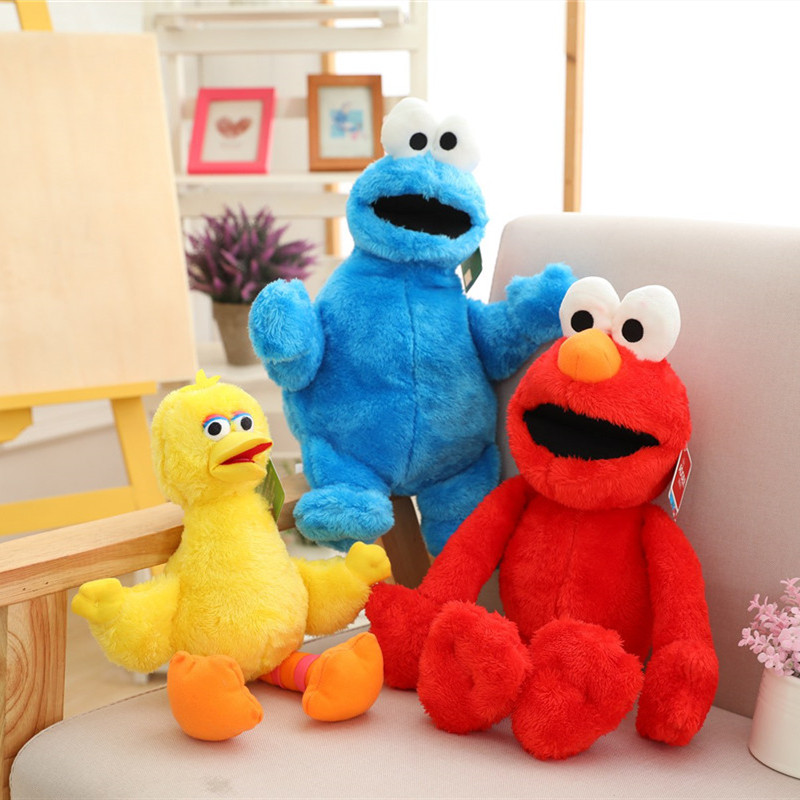 Us 7 8 29 Off Sesame Street Elmo Cookie Monster Big Bird Plush Toys Cute Cartoon Soft Stuffed Toys Kids Child Educational Gifts Drop Shipping On