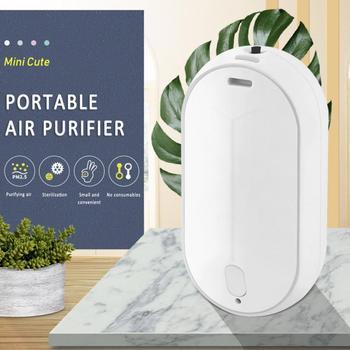 Portable hanging neck air purifier negative ion mini portable necklace purifier to remove haze formaldehyde