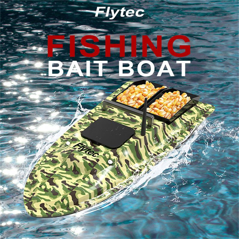<font><b>Flytec</b></font> V500 <font><b>V007</b></font> Fishing Bait <font><b>RC</b></font> Boat 500M Remote Fish Finder 5.4km/h 2-24h Using time Double Motor Outdoor Toy With Transmitter image