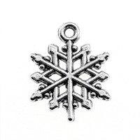 Sales Retail 1 Piece 19x16mm Snowflake Charms Necklace Fashion Women