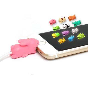 חדש כבל מגן עבור Iphone כבל המותח כלב לנשוך טלפון מחזיק אבזר ארגונית ארנב כלב חתול בובת בעלי החיים כבל ארגונית