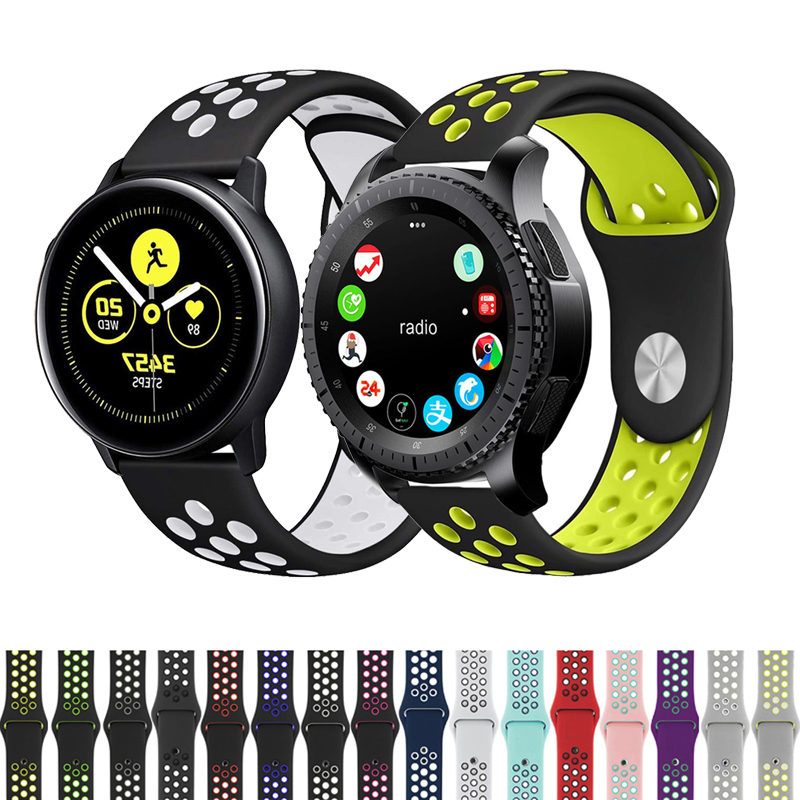 20mm Watch Strap Band Silicone For Samsung Galaxy Watch Active 2 Gear S2 Replacement Watch Women Men's Bracelet Watches Strap