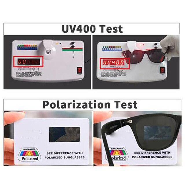 Men Polarized TR90 Sunglasses Vintage Anti-UV Driving Driver Black Goggles Eyewear Rectangle Shades Men Oculos masculino Male 4