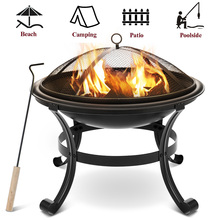 Bbq-Pot Campfire Wood-Burning Outdoor Courtyard Steel for Beach-Park Party Barbecue-Supplies