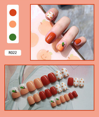 Nail Tip Fake Art Press on Nails with Glue Designs Set Full Artificial Short Packaging Kiss False Clear Cover Tipsy Stick Square 6
