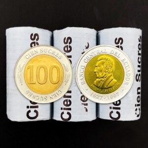 100% настоящие оригинальные монеты Unc, Коллекционная монета, 100 Сукре, 2011