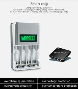 Image 4 - شاشة الكريستال السائل مع 4 فتحات شاحن بطارية ذكي الذكية لبطاريات AA / AAA NiCd NiMh قابلة للشحن