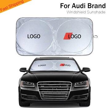 Car sunshade for sline car logo sun visor cover blind windshield shade auto Accessories for Audi A3/A4/S4/A5/A6/A7/A8/Q2/Q3/Q5