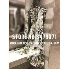 2019 midi opstaande jurk
