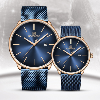 Luxurious Waterproof Couples Mesh watch Set