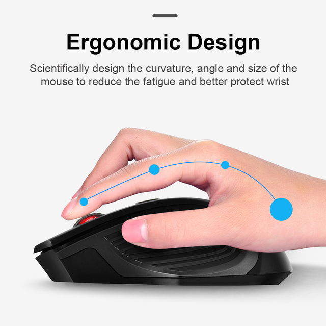 USB Wireless Mouse 2000DPI USB 2.0 Receiver Optical Computer Mouse 2.4GHz Ergonomic Mice For Laptop PC Sound Silent Mouse 3