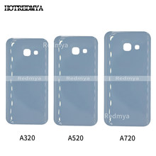 10pcs Back Glass For Samsung Galaxy A3 A5 A7 2017 A320 A520 A720 Back Battery Cover Rear Door Housing Case Replacement Parts(China)