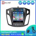 Автомагнитола в стиле Tesla, автомобильное радио, мультимедийный видеоплеер, навигация GPS, Android для Ford Focus 3 Mk 3 2011-2019