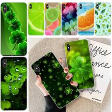 MayDaysmt Green Clover Customer High Quality Phone Case For iphone 6 6s plus 7 8 plus X XS XR XS MAX 11 11 pro 11 Pro Max Cover lovebay geometri customer high quality phone case for iphone 6 6s plus 7 8 plus x xs xr xs max 11 11 pro 11 pro max cover